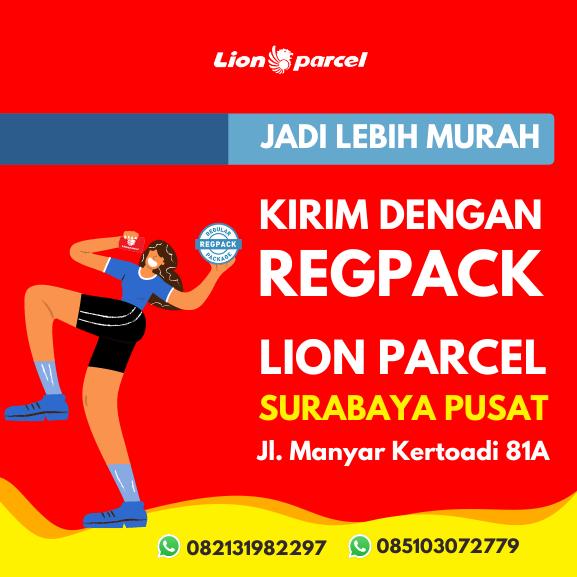 Pengiriman RegPack di Lion Parcel Surabaya Pusat Kini Lebih Murah!